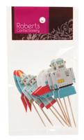 Cupcake Topper - Robots Pkt 8
