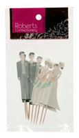 Cupcake Topper - Bride & Groom Pkt 8