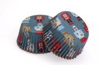 Cupcake Cases - Robots Pkt 24