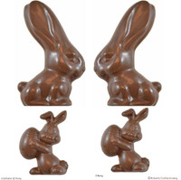 12.5 & 8.5 cm Easter 3D Bunny  - 123