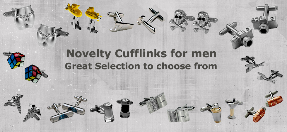 Novelty cufflinks for men