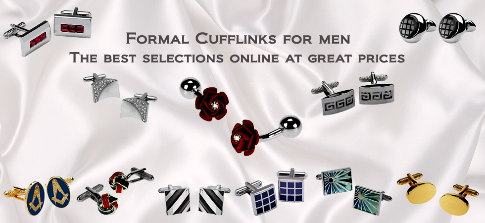 Formal cufflinks for men
