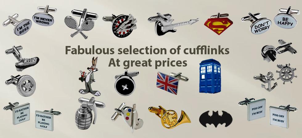 Unusual cufflinks for men