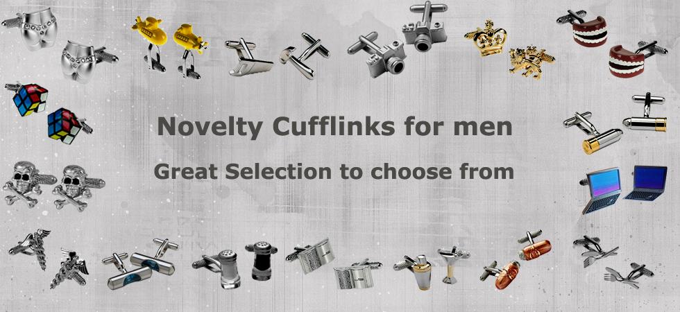 novelty cufflinks at cufflinks world