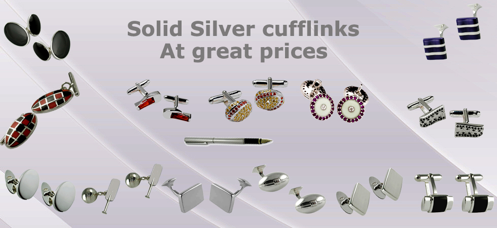 solid silver cufflinks at Cufflinks World