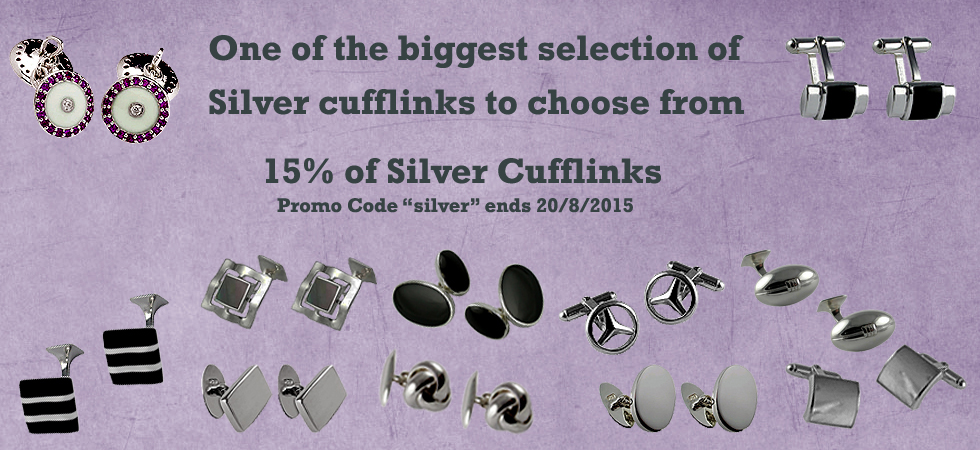 Low price Silver cufflinks at Cufflinks World