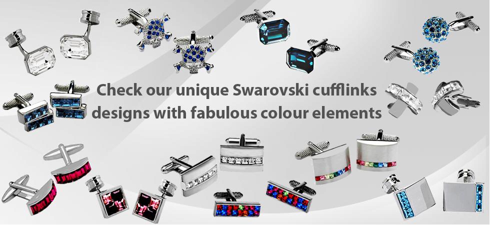 Swarovski elements cufflinks