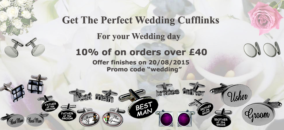 Wedding Cufflinks at low prices at Cufflinks World
