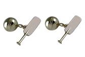 Cricket Silver Cufflinks