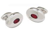 Red enamel cufflinks