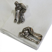 English Made Bowls Theme Pewter Cufflinks