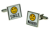Single/Married Wedding cufflinks