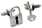 Padlock & Key Novelty cufflinks