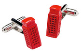 London Phone Booth Cufflinks