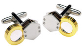 Magnifying glass cufflinks
