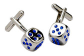 Dice design Swarovski Cufflinks
