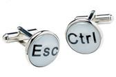 Computer keys [Esc and Ctrl]  cufflinks