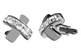 Clear Swarovski elements Cufflinks