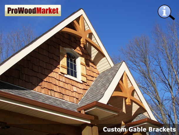 Custom gable brackets pom0 12 12 for Craftsman gable brackets