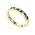 18ct Gold 0.21ct Sapphire & 0.16ct Diamond Eternity Ring British Hallmarked