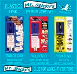 Mr. Sticky's PLASTICS 3-Pak