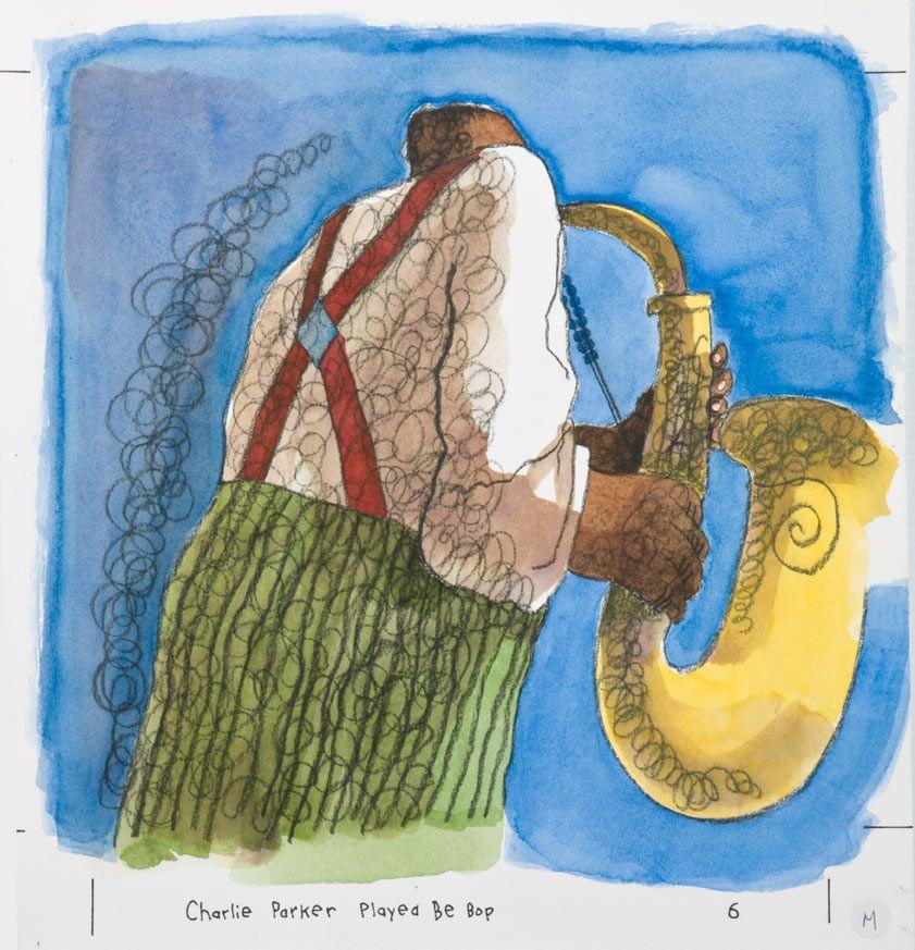Chris Rashka, Charlie Parker Played Bebop, 1992. Charlie Parker played saxophone (Pg 6)