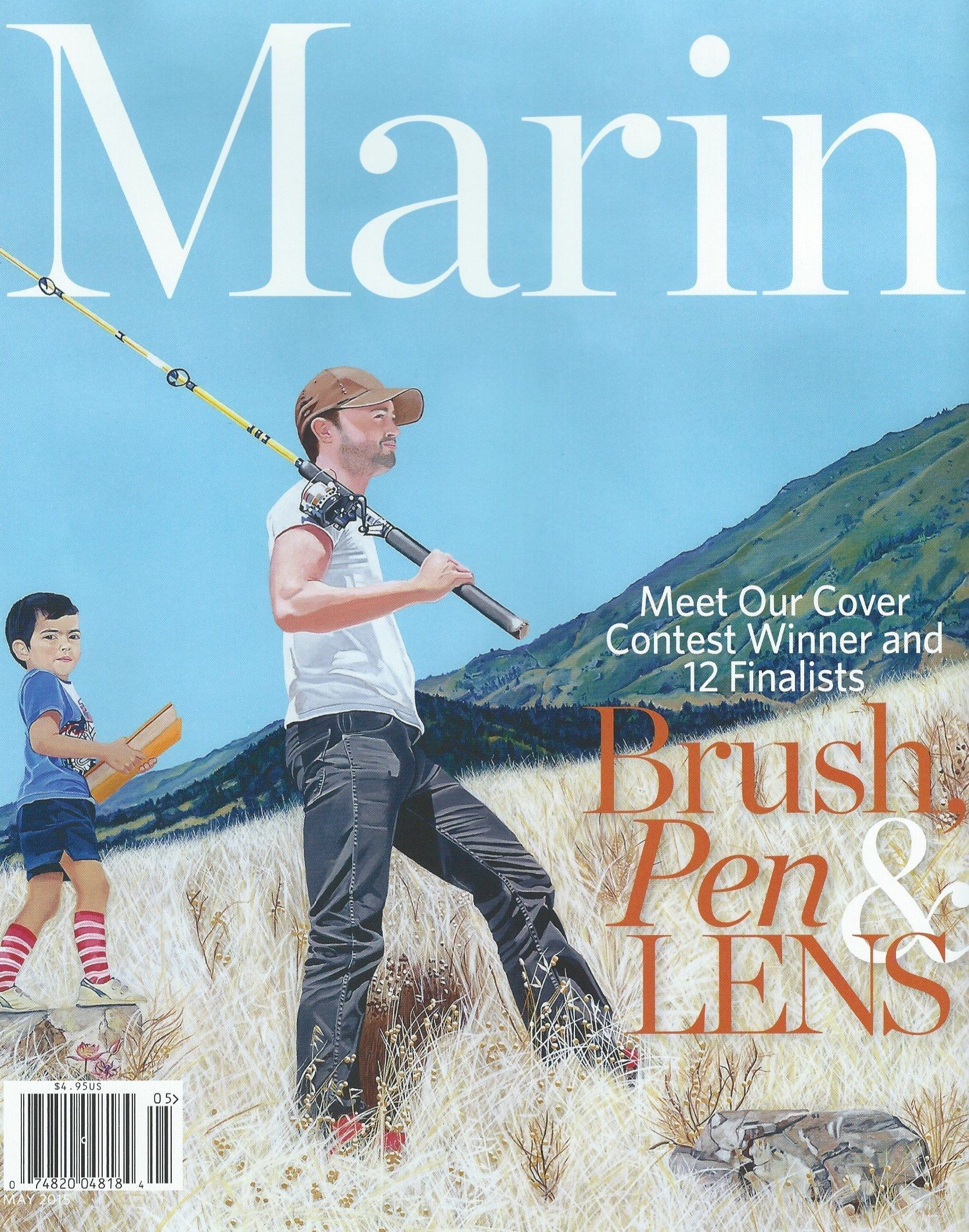 Father and Son Marin Magazine Cover, Ingrid C. Lockowandt