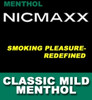 NICMAXX MILD Menthol products for E Cig