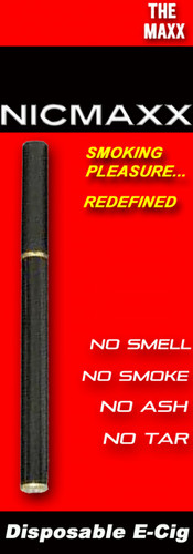 "NICMAXX ""The MAXX"" Disposable Electronic Cigarette-*PG"