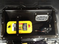JK Wrangler storage tub installed with Optima D31A battery and managment system
