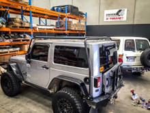 JK Wrangler Slim line roof rack 2 door Jeep