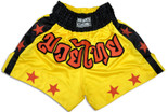 Muay Thai Shorts-Yellow/Stars