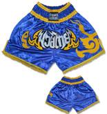 Muay Thai Shorts - Blue/Gold