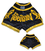 Muay Thai Shorts - Black/Gold