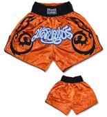 Muay Thai Shorts - Orange/Black