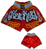 Muay Thai Shorts - Red/Gold/White