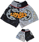 Muay Thai Shorts - Black/Silver/Gold