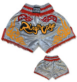 Muay Thai Shorts - Silver/Gold/Red