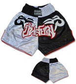 Muay Thai Shorts - White/Red/Black