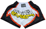Muay Thai Shorts - Black/White/Red