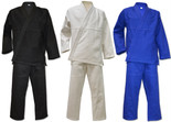 NO LOGO BLANK All-Around Classic Brazilian Jiu Jitsu Kimonos - White, Blue & Black
