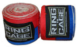 Handwraps Mexican Style Stretchable- Red/Blue - Super Long 220""
