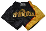 Muay Thai Shorts - Black/Gold.