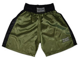 Traditional Boxing Trunks - Marine Green/Black