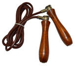 Deluxe Leather Jump Rope - Weighted