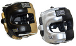 Deluxe Full Face GelTech Sparring Headgear 2.0 - Metallic Silver or Metallic Gold