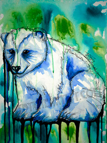 "Travis Seibolt ""Purity"" Polar Bear Signed Giclee on Canvas"