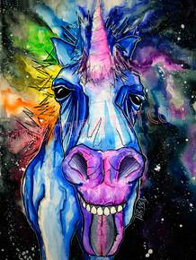 "Travis Seibolt ""Spirit"" Unicorn Signed Giclee on Canvas"