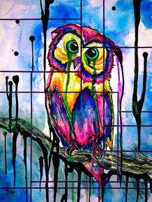 "Travis Seibolt ""Visions"" Owl Signed Giclee on Canvas"