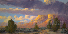 Fred Choate 'Bruneau Sunset' Giclee on Canvas Signed